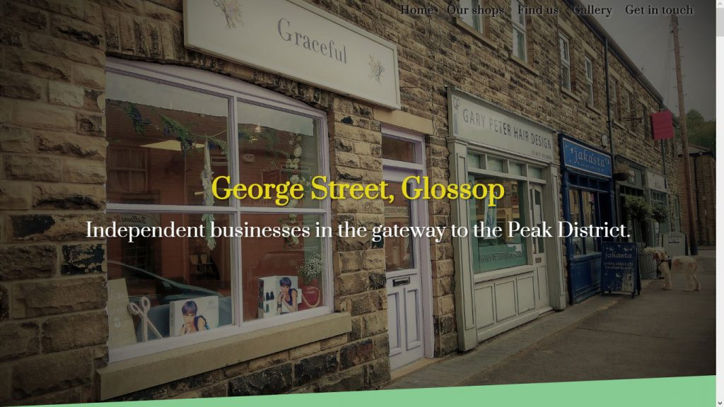 Hero image of George Street shops